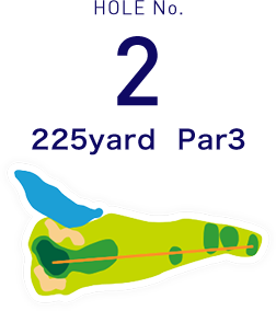 HOLE No.2 225yard  Par3