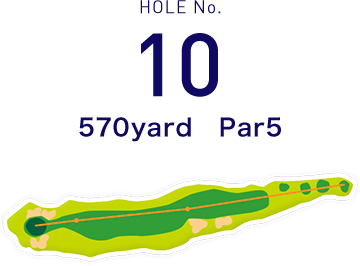 HOLE No.10 225yard  Par3