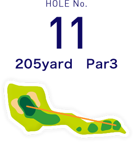 HOLE No.11 400yard  Par4