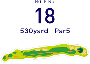 HOLE No.18 225yard  Par3
